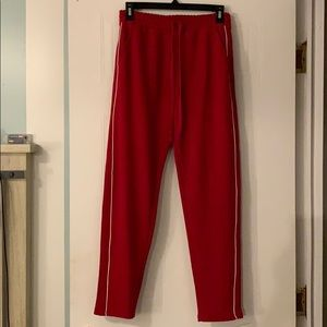 Pants - Project 28. Red Joggers. Size medium.
